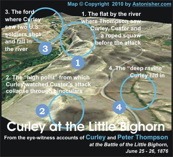 Curley at the Little Bighorn 3D Map