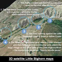 3D satellite maps of the Little Bighorn from Astonisher.com's 100 Voices