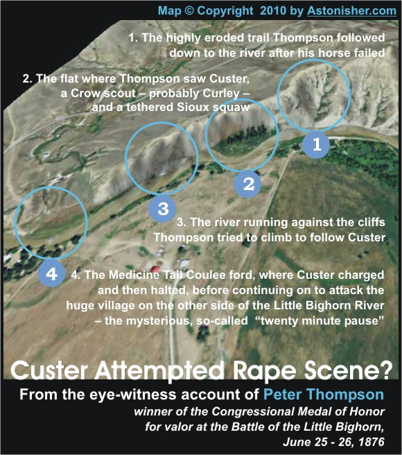 Custer Attempted Rape Scene? Map by Astonisher.com