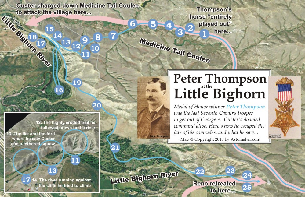 Pteer Thompson at the Battle of the Little Bighorn by Bruce Brown