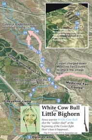 White Cow Bull route map thumbnail