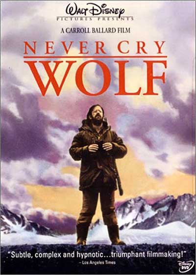 """Never Cry Wolf"" poster"