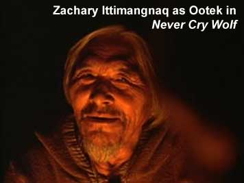 "Zachary Ittimangnaq as Ootek in ""Never Cry Wolf"""
