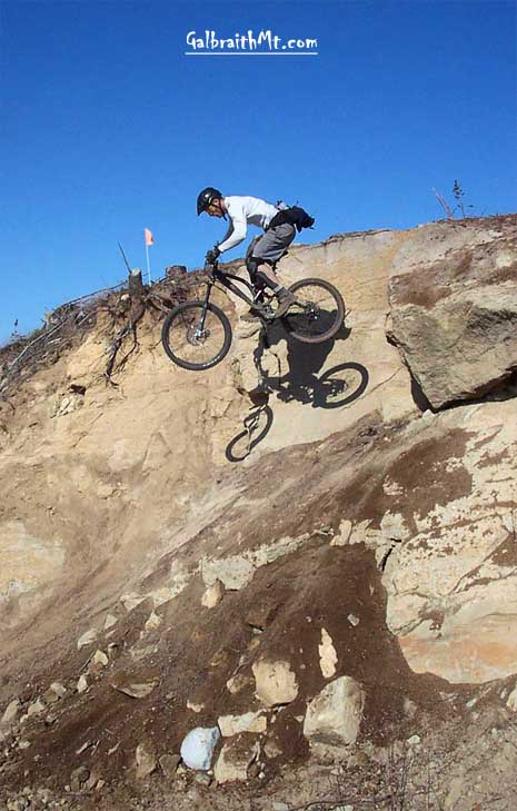Russ Barlow at Sandy Stone on Wonderland, Galbraith Mt., Bellingham, WA