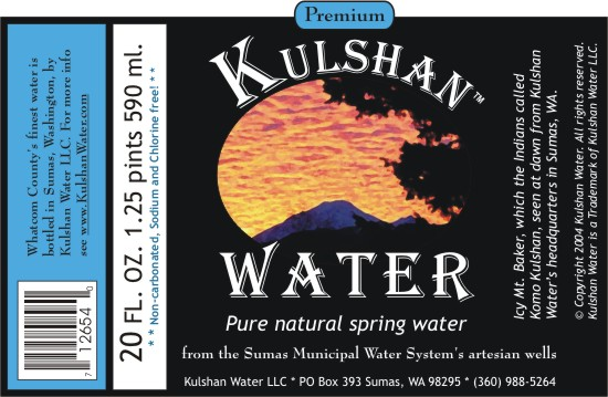 kulshan water label